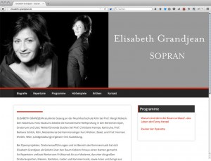 Website Elisabeth Grandjean