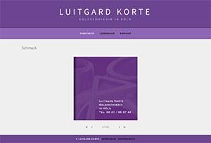 Webseite Luitgard Korte